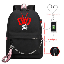 New casual backpack lady backpack, travel laptop girl with USB charging women