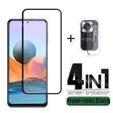 4-in-1 For Xiaomi Redmi Note 10 Pro Glass For Redmi Note 10 Pro Phone Flim Screen Protector For Redmi Note 9 T 10 Pro Lens Glass