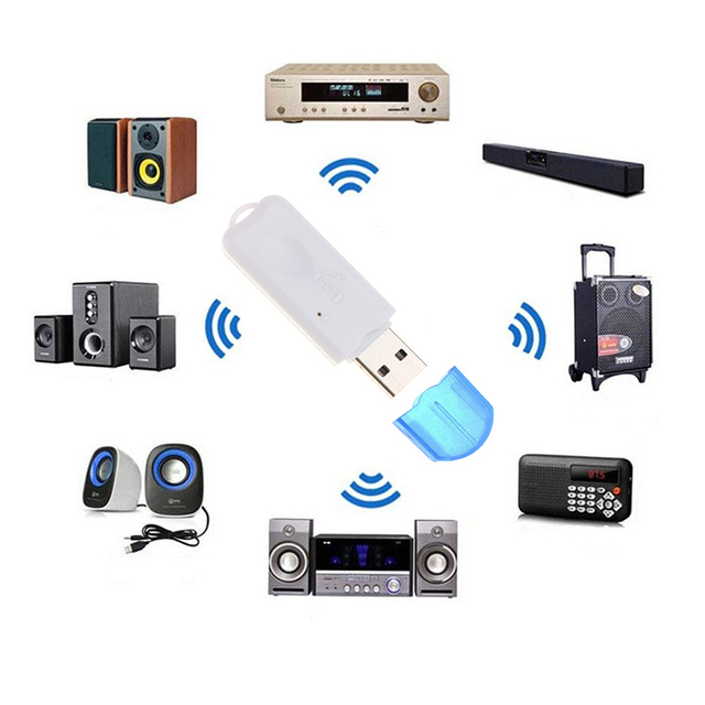Portable USB Bluetooth Stereo Music Receiver Wireless Audio Adapter Dongle Kit Built In Microphone For Speaker For Phone Car