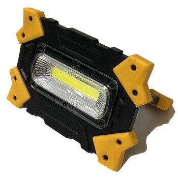 MingRay Luz de inundación portátil USB recargable 18650 litio potente 10W COB reflector lámpara de trabajo Auto Portatile Spotlight