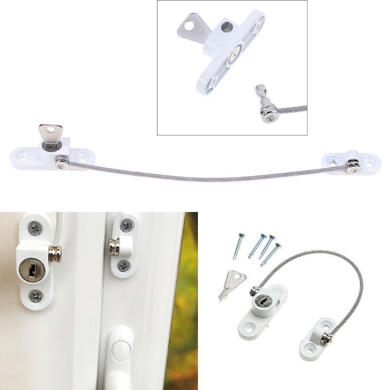 Window Lock Children Protection Window Restrictor Aluminum Alloy Child Safety Window Stopper Anti-theft Locks Limiter