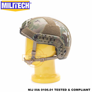 Image 3 - MILITECH баллистический шлем БЫСТРЫЙ MC Deluxe червячный циферблат NIJ уровень IIIA 3A высокой резки ISO сертифицированный Twaron Пуленепробиваемый Шлем DEVGRU