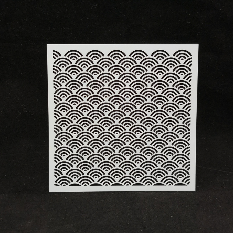 13*13 Scale Pvc Layering Stencils For Diy Scrapbook Coloring,painting Stencil,home Deco DIY Paper Cards Crafts
