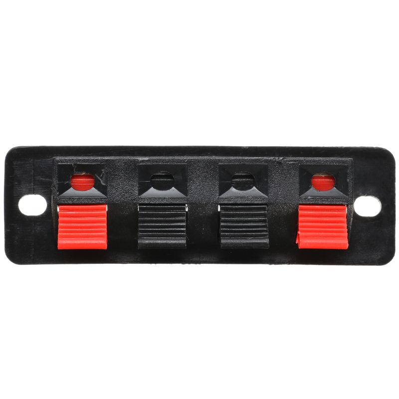 2pcs 4 Positions Connector Terminal Push In Jack Spring Load Audio Speaker Terminals Panel Connector