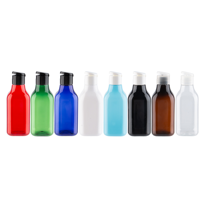 200ml Empty White Square Plastic Container 200cc DIY Cosmetic Packaging PET Bottle Black Cosmetic Bottles With