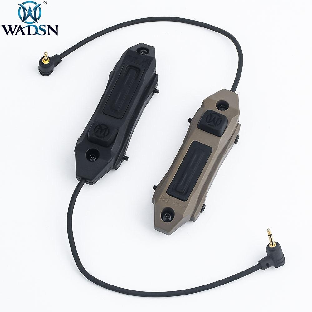 WADSN Тактический Двойной переключатель давления для PEQ15 DBAL A2 Лазерный оружейный светильник Fit Keymod M-Lok 20mm Rail