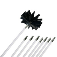 Long Handle Flexible Pipe For Chimney Kettle House Cleaner Cleaning Tool Kit 8 Rods Nylon Brush Cleaning Brushes Cleaning Brushes     -