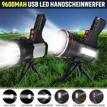 300W/800W Super brillante poderosa linterna LED USB buscando antorchas lámpara de luz nocturna de la linterna que acampa de la batería recargable