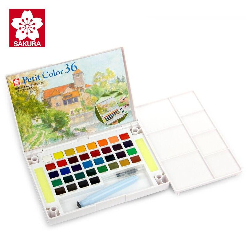 Твердый пигмент SAKURA для рисования акварелью, набор для рисования 12/18/24/30/36/48/60/72 цветов Lite/Hardcover для студентов, портативные принадлежности для...