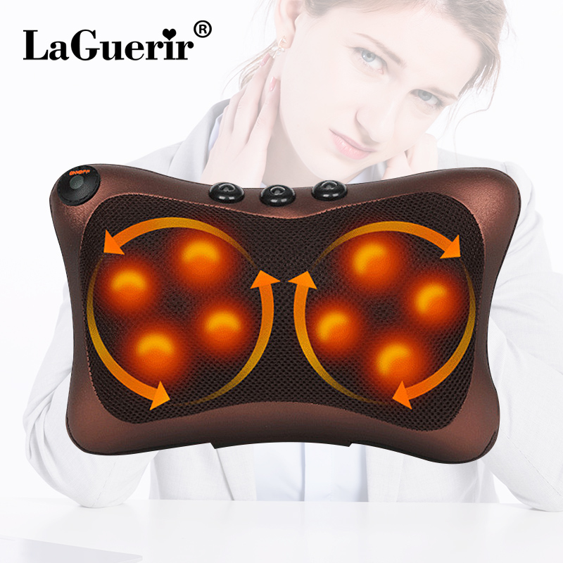 Relaxation Massage Pillow Vibrator Electric Shoulder Back Heating Kneading Infrared therapy for shiatsu Neck