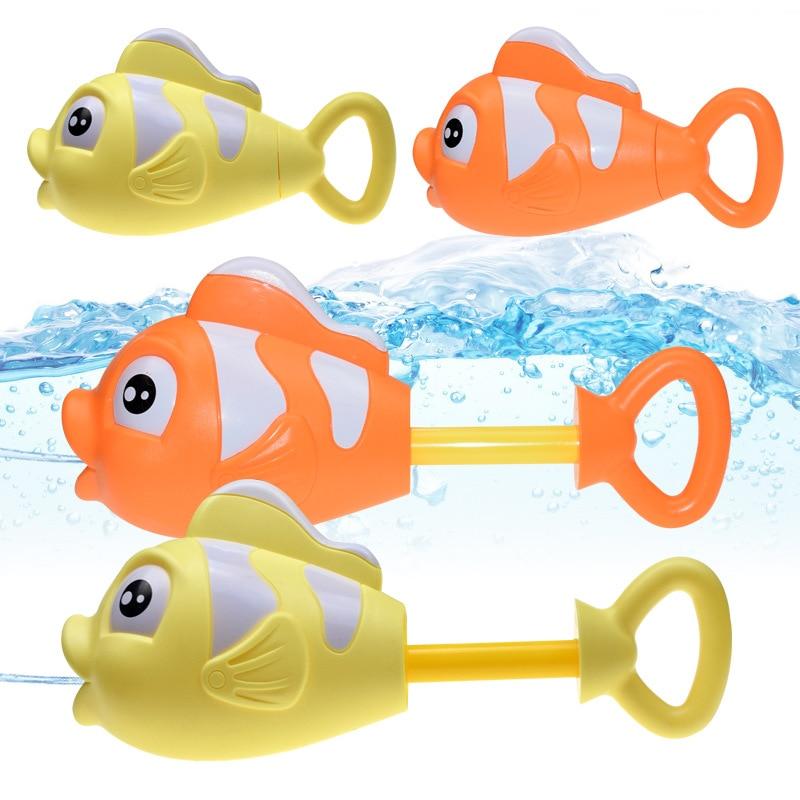 Kids Summer Outdoor Toys Clown Fish Spray Water Gun Game Toy Kid Pumping Lightweight Portable Water Spray Beach Swimming Toy