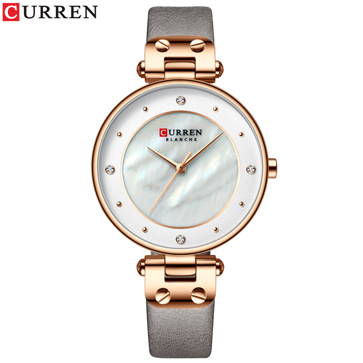 CURREN Watch Women Luxury Brand Ladies Dress Quartz Wristwatch Leather Waterproof Female Watches Girl Clock Relogio Feminino