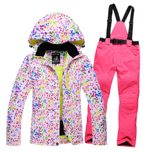 New Thick Warm Womens Skiing and Snowboarding Jacket Pants Set Waterproof Windproof Ski Suit Female Snow Costumes Outdoor Wear