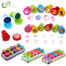 10 pièces/ensemble enfants jouets timbres dessin animé animaux Fruits enfants sceau pour Scrapbooking Stamper album à faire soi-même dessin animé Stamper jouets ZXH