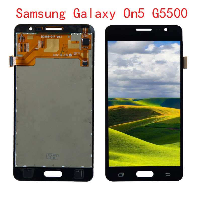 <font><b>For</b></font> <font><b>Samsung</b></font> Galaxy On5 <font><b>G5500</b></font> G550FY G550T1 LCD Display <font><b>Screen</b></font> Digitizer + <font><b>Touch</b></font> Panel Glass Sensor Assembly Replacement Parts image