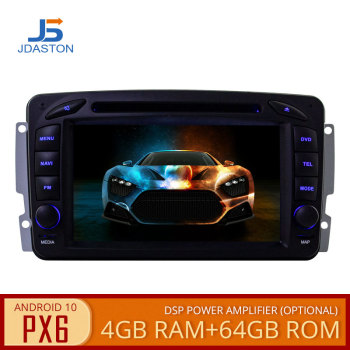 JDASTON PX6 Android 10 Car Multimedia Player For Mercedes Benz CLK W209 W203 W208 W463 Vaneo Viano Vito Car DVD GPS 2 Din Radio image