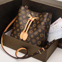 New Fashion Trend Printing Shoulder Messenger crossbody Handbag Wild Large Capacity Drawstring Women's Bucket Bag