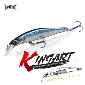 Kingdom Hot Jerkbaits Fishing lures 60mm 6g 80mm 9g 105mm 18.6g Sinking Minnow lure High Quality Hard Baits Good Action Wobblers(China)