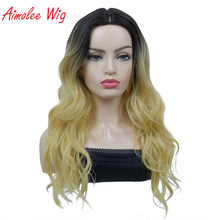Aimolee part Lace Wigs for Women Natural Long Curly Ombre