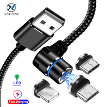 KSTUCNE Micro USB Magnetic Cable Charger 90 Degree Fast Charging Type C For iPhone 7 X S Max Huawei  P20 Samsung USBC Wire