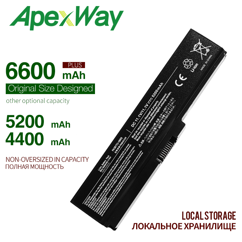 ApexWay Laptop Battery For Toshiba Satellite A660 C640 C650 C655 C660 L510 L630 L640 L650 U400 PA3817U-1BRS PA3816U-1BAS