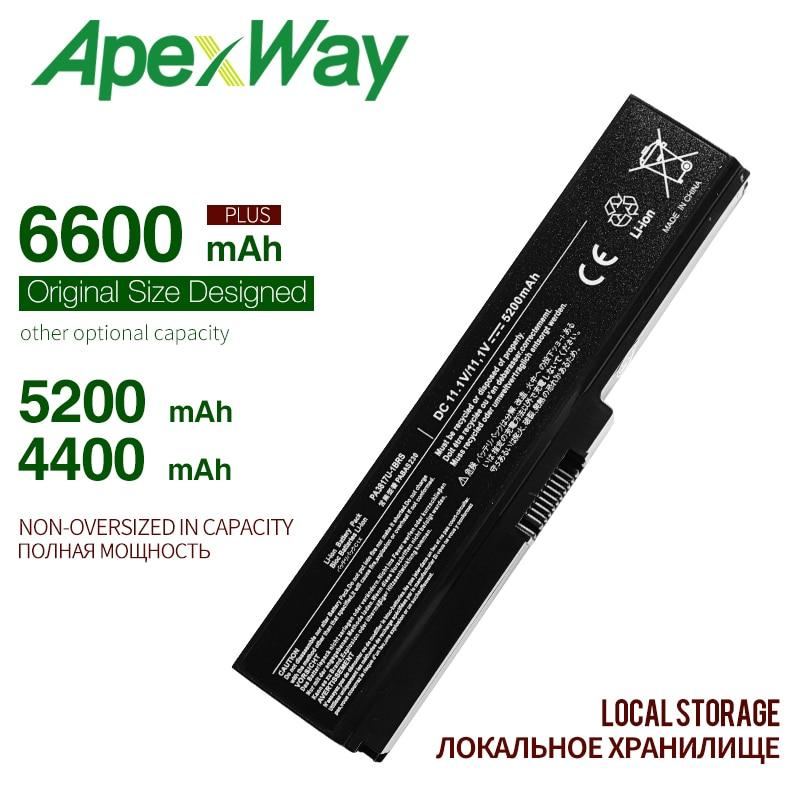 ApexWay Laptop Battery For Toshiba Satellite A660 C640 C650 C655 C660 L510 L630 L640 L650 U400 PA3817U-1BRS PA3816U-1BAS