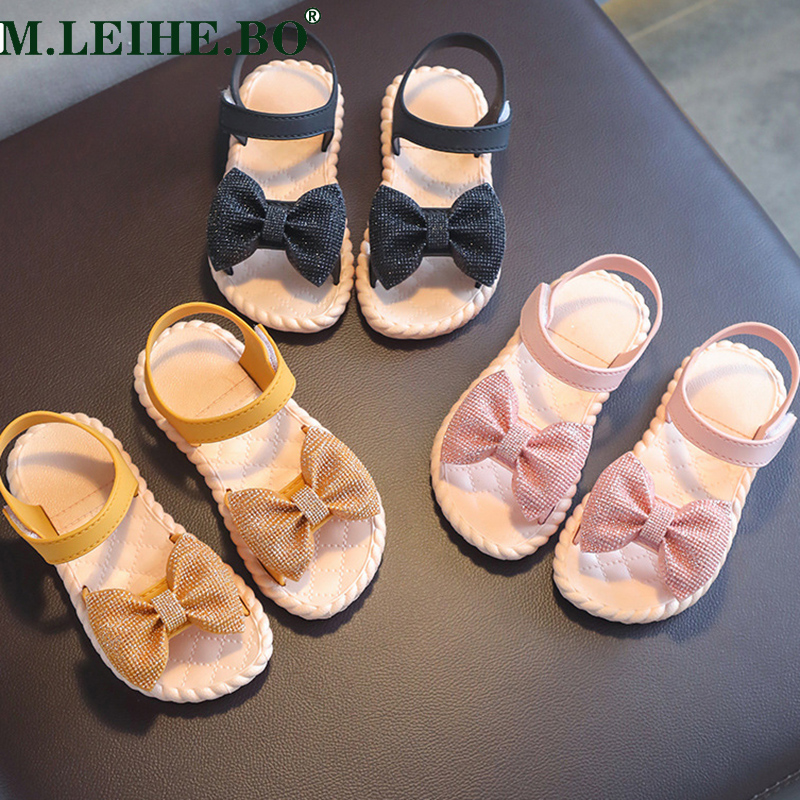 Toddler Infant Kids Baby Girls Party Princess Shoes Sandals Children Girls Sandals Bowknot Beach Children's Shoes Performance