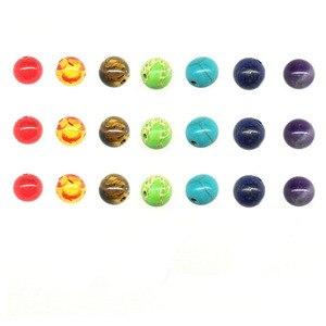 Beadtales 1 набор 8 мм бусины из натурального камня Круглые бусины с тигровым глазом для женщин Diy 7 Чакра браслет ювелирные изделия аксессуары|Бусины|   | АлиЭкспресс