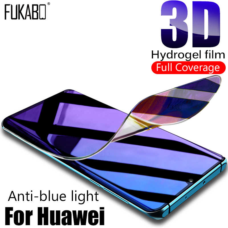 Anti-blue light Eye Protection Film For Huawei P20 P30 Lite Hydrogel Screen Protector For Mate 10 20 Pro P Samrt 2019 Not Glass