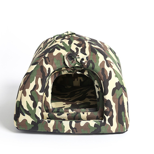 Pet Dog Bed Camouflage Comfortable Tent Style Warm Cats House for Sleeping For Drop Ship