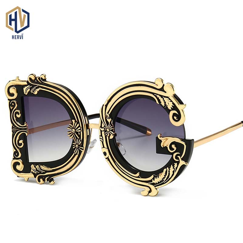 2020 Newest Fashion Letter Sunglasses Women Brand Designer Vintage Flower Shades Ladies Sun Glasses UV400 Oculos De Sol Feminino|Women's Sunglasses|Apparel Accessories - AliExpress