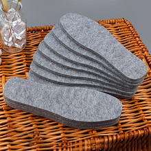 3 Pairs/5 Pairs Thermal Wool felt insoles thicken warm insole for men women shoes breathable skin-friendly shoe pad