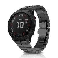 Replacement Easyfit Titanium Alloy Wristband Straps for Garmin Fenix 6X Pro Watchband Quick Fit Strap for Garmin Fenix 6X Watch