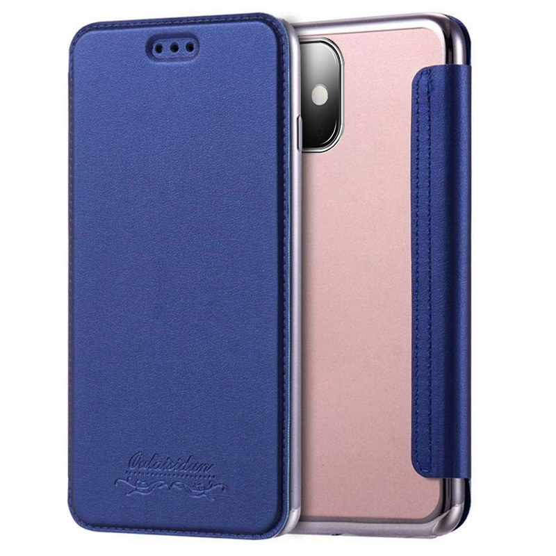 H23d2ef2b12d04f3f86cf11883eddd370Z Luxury Wallet Flip Book PU Leather Phone Case For iPhone 11 XR XS Max 5 5S SE 6 6S 7 8 Plus Transparent Clear Back Cover Shell