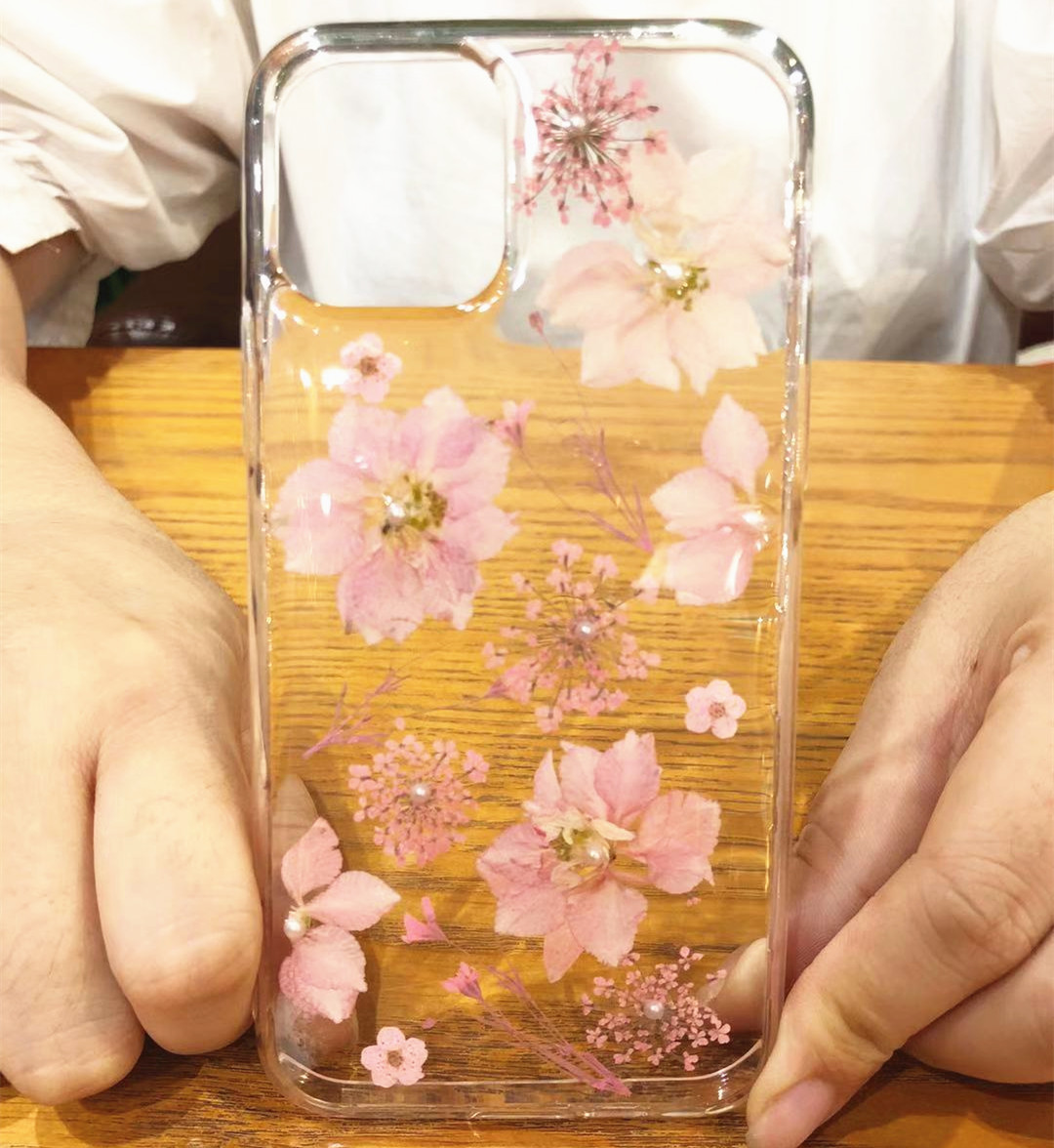 Real Dried Flowers Clear TPU Case for iPhone 11/11 Pro/11 Pro Max 17