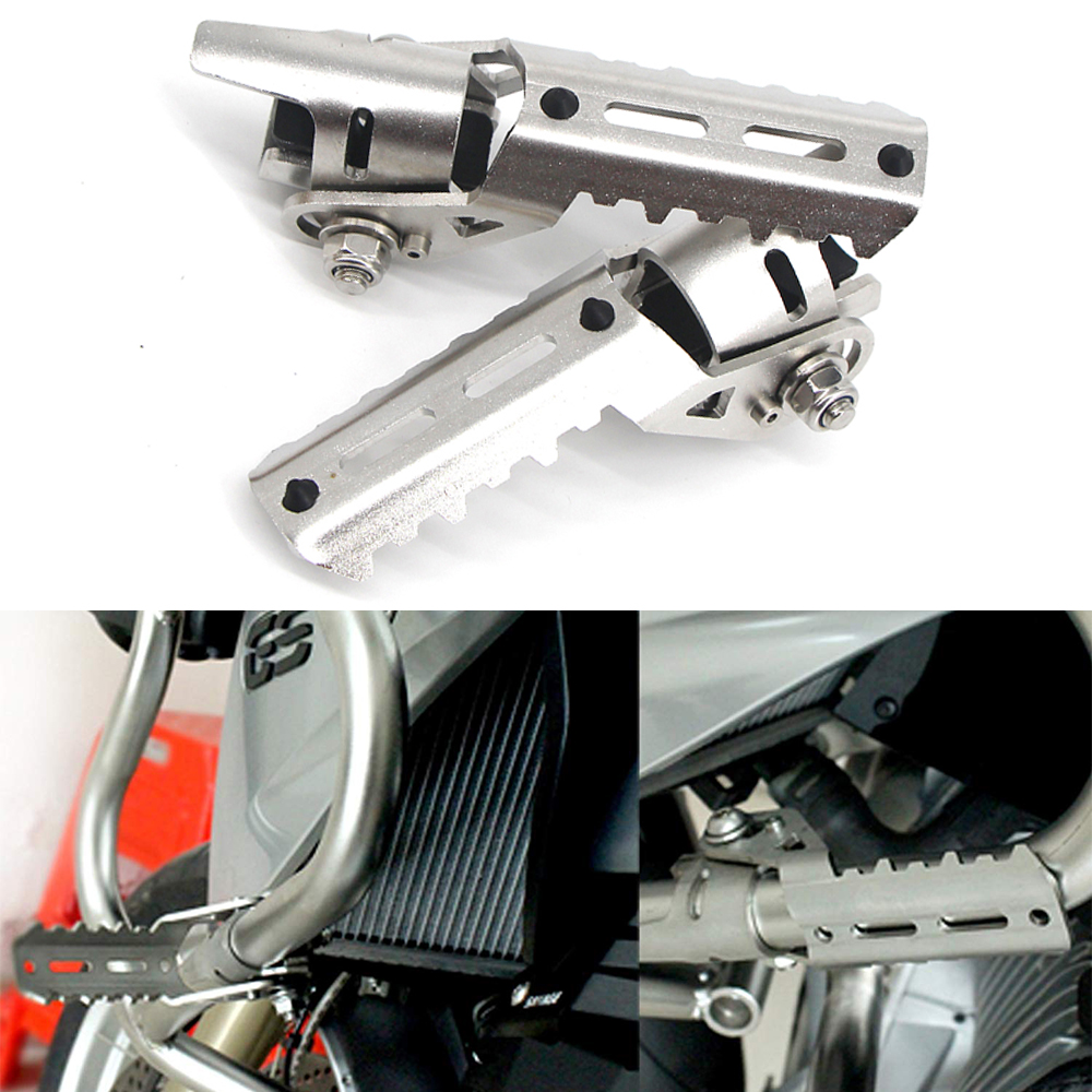 For BMW R1200GS R 1200 R1200 GS Adv Adventure LC 2013-2019 Motorcycle Highway Front Foot Pegs Folding Footrests Clamps 22-28mm
