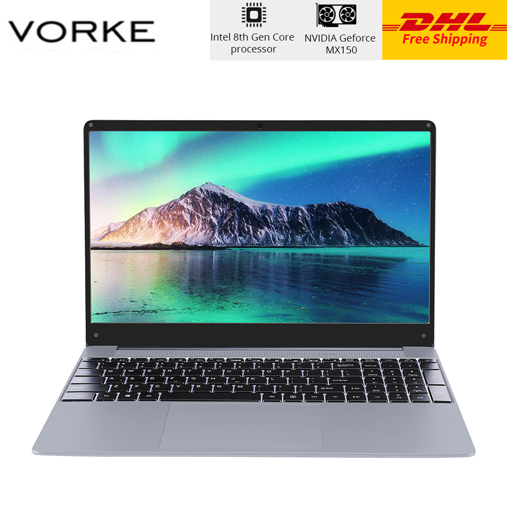 DHL VORKE Notebook 15 PRO Laptop Intel Core I5-8250U 15.6'' Windows 10 Full Metal Body 16GB DDR4 512GB SSD NVIDIA GeForce MX150