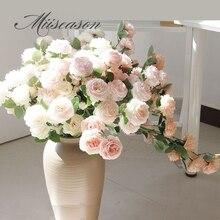 Шелковые Розы пионы искусственные розовые цветы маленький бутон Свадебный букет украшение дома длинные Искусственные цветы наружный декоративный фон