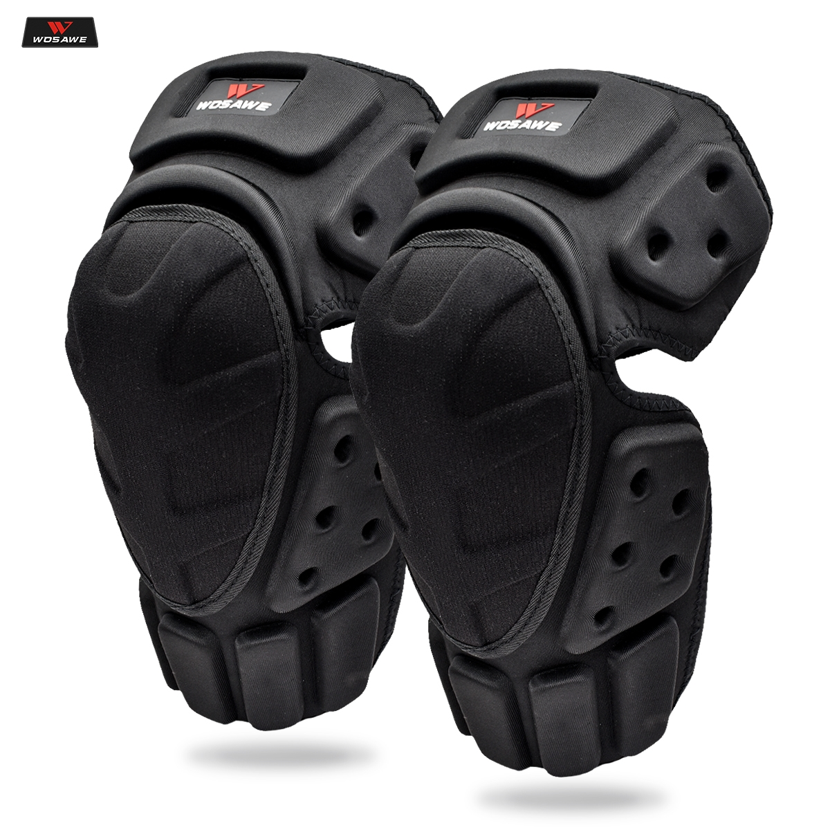 WOSAWE Motorcycle Knee Pads Motocross Knee Protector Off Road Safety Knee Brace Support MTB Ski Sports Protective Gear