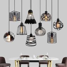 Lampe suspendue industrielle en fer au style Vintage, Luminaire décoratif d'intérieur, idéal pour un Loft, un salon, une chambre à coucher ou une cuisine, E27