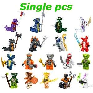 Single Sale Ninjagoes Mini Building Blocks Figure Doll Pythor Snake Action figures Kits Bricks DIY Toys for Kids Children Gift
