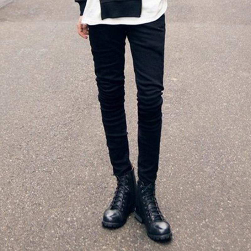 Большие размеры; Корейская версия; эластичные черные джинсы; облегающие хлопковые узкие брюки; зимние сапоги; брюки