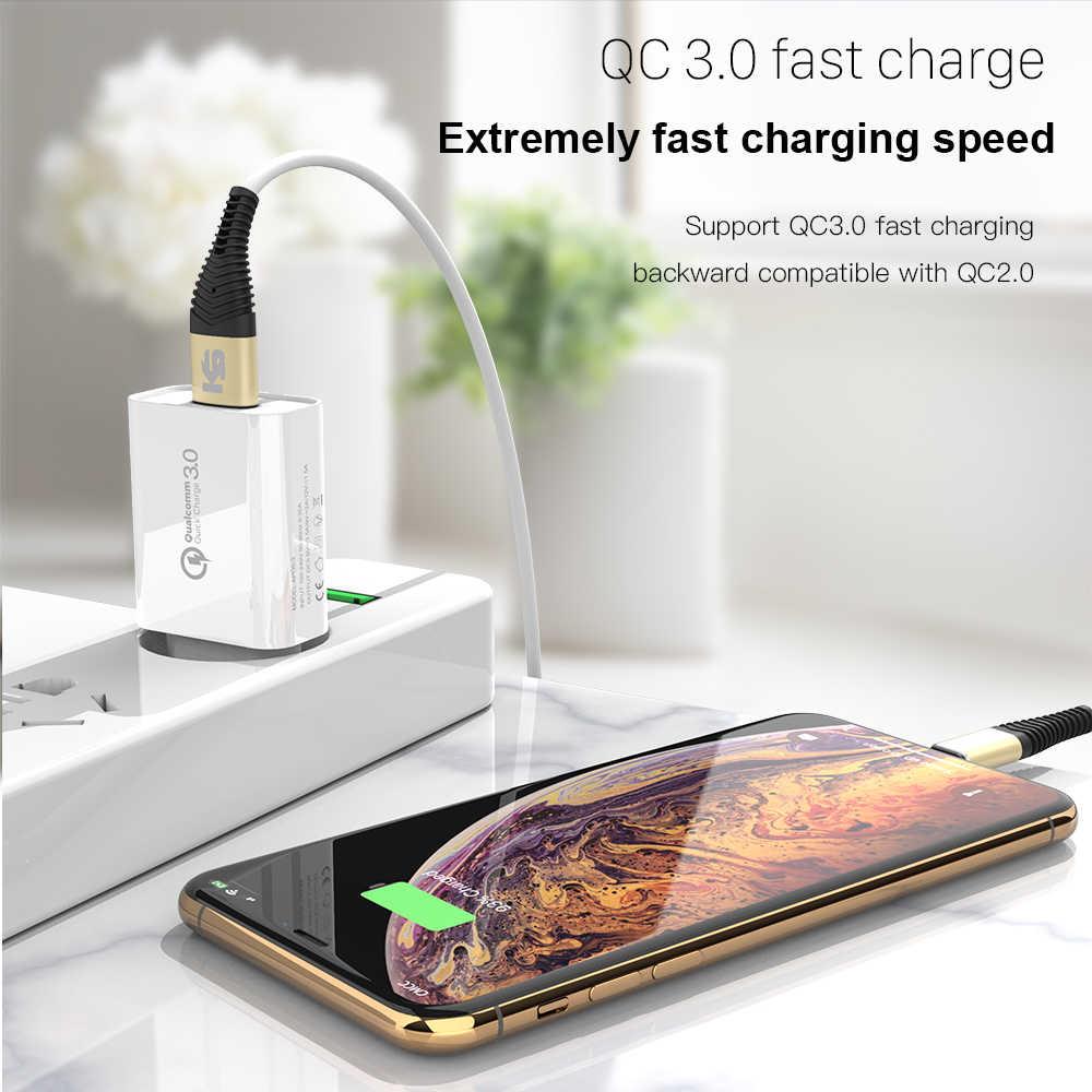 KEYSION 18W hızlı şarj 3.0 hızlı cep telefonu şarj cihazı seyahat duvar tipi usb şarj cihazı adaptörü iPhone Samsung Xiaomi Redmi için Huawei