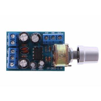 حجم صغير تيار مستمر 1.8-12 فولت TDA2822M 2.0 قناة ستيريو صغيرة AUX مضخم الصوت لوحة تركيبية أمبير وحدة أجزاء 1