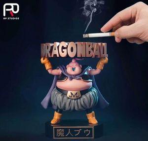 Figurine Majin Buu PVC Action Figures Dragon Ball Z Super Saiyan Dragonball Z Figure DBZ Buu Action Figure Model Ashtray(China)
