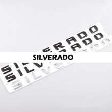 Letras emblema para chevrolet silverado estilo do carro bagageira emblema captador inferior tronco porta lateral placa de identificação etiqueta 1500 2500 3500