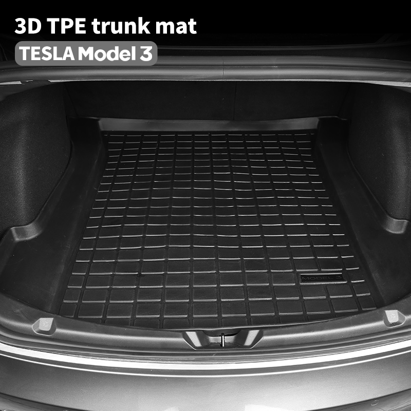 lowest price BAFIRE Waterproof Trunk Mats For Tesla Model 3 Customized Car Rear Trunk Storage Mat Cargo Tray Trunk Protective Pads Mat