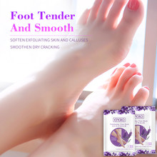 EFERO 2pair Lavender Baby Foot Mask Socks for Pedicure Exfoliating Feet Mask Remove Dead Skin Heels Foot Peeling Mask for Legs(China)