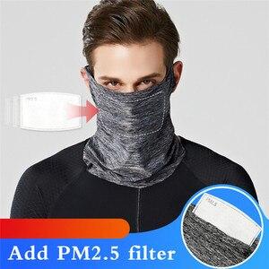 Nouveau masque d'équitation en plein air coupe-vent cyclisme écharpe Protection UV escalade randonnée ski pêche Bandana chapeaux avec 1pc filtre