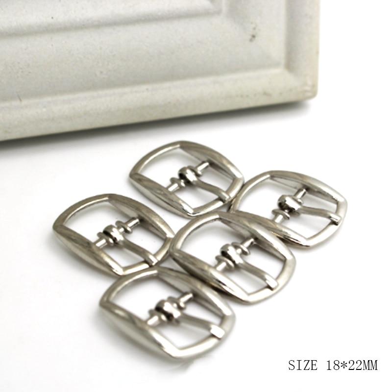 ZMASEY-hebillas para bolsas de zapatos de Metal, 10 unidades/lote, 18x22mm, hebilla decorativa para zapatos, hebilla para bolso, broche de correa, accesorios de costura de cuero para manualidades